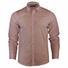 Mens Shirt Brave Soul Tudor Long Sleeve Collared Casual Top
