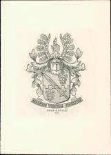 Lars C Stolt. Kupferstich. Eugen Schmidt. Leipzig.  Bookplate    QR127
