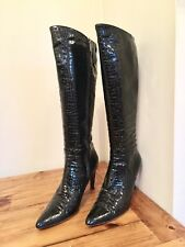 Hobbs Black Patent Leather Boots , Size UK 7,5 - EUR 40,5