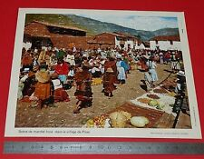 PUZZLE 80 PIECES COLLECTION CHEQUE CHIC LUSTUCRU ANNEES 1970 Marché INCA PISAC