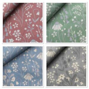 Rose & Hubble Daisy Floral - 100% Cotton Fabric, Crafts Quilting FQ's Metres NEW