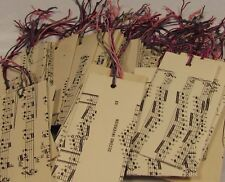 50  x Vintage music paper. Alternative ORGANZA GIFT BAGS. Hand made. LARGE