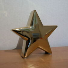 Deko Stern gold Advent Weihnachten Weihnachtsstern edel Figur Tischdeko Sterne