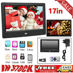 "7"" HD Digital Photo Frame Album Electronic Picture Movie Player + Remote Control"