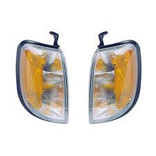 Fits 98-00 Frontier/00-01 Xterra Driver & Passenger Corner Signal Lights Pair