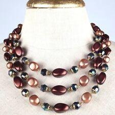 Markenlose Bronze Modeschmuck-Halsketten & -Anhänger aus Glas
