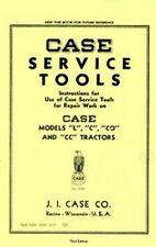CASE Model L  C  CO  CC Tractor Service Tools Manual