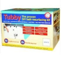 TUBBY WHITE CERAMIC BATH RESURFACING DIY KIT PORCELAIN CASTIRON ENAMEL STEEL