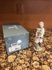 "Lladro Privilege 8362 "" Morning Melodies "" Girl Bird  Porcelain Figurine"