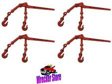 "(4) 6600! Load Binder Pull Lever 3/8"" inch Chain Hook Tie Down Rigging Equipment"