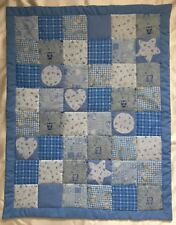 Handmade Baby Boy Girl Patchwork Quilt Cot Crib Pram Playmat Blue or Pink