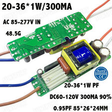 5 Pieces AC85-277V 40W PFC LED Driver 20-36x1W 300mA DC60-120V Constant Current