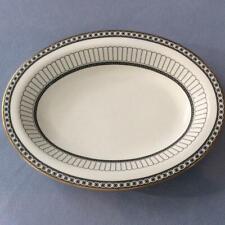 Wedgwood black Colonnade bone china oval vegetable bowl R4340
