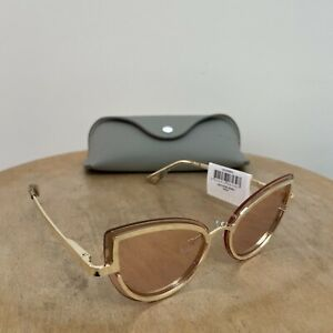 New Le Specs luxe Sunglasses Eyewear womens mens adulation rose gold metal