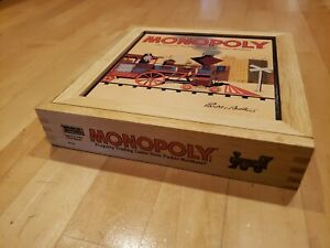 MONOPOLY Nostalgia Game Series Parker Brothers Monopoly Wood Box
