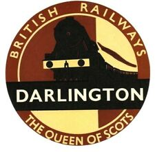 More details for british railways luggage label - the queen of scots - darlington