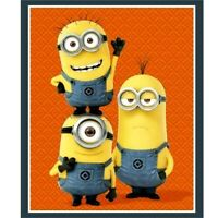 "MINIONS  DESPICABLE ME  1 IN A MINION  FABRIC QUILTING TREASURES  35""x44"" PANEL"