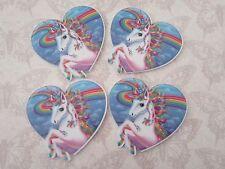 Unicorn Planar FlatBack Resin Heart Cabochon Decoden Kawaii Craft Embellishment