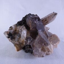 Zomba Smoky Quartz, Aegerine & Orthoclase Natural Crystal Specimen - 73mm, 155g