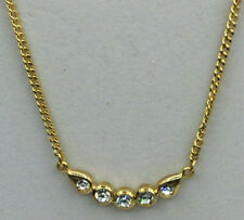 Fashion Necklace Rhinestone Crystal Arched Pendant Petite Choker Sparkly