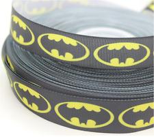 1 yard (90cm) Batman Badge 22mm Ribbon, Gift Decoration, DIY Bow / Hair Clip