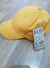 Recycled Yellow Baseball Cap