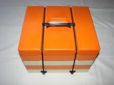 Service à pique-nique vintage orange 70 - Plateau Leicester England
