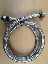 5/16 8MM Stainless Steel Braided Fuel Hose Pipe 1 Metre + Ends & Clips