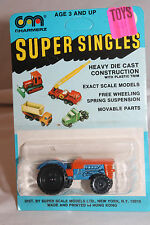 1970's Playart Charmerz Super Singles Tractor, Blue & Orange, Mint on Card