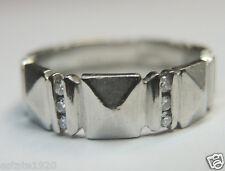 Antique Vintage Deco Diamond Eternity Band Platinum Ring Size 6.75 UK-N EGL USA