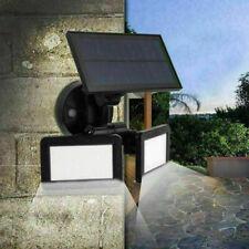 48LED Waterproof Dual Head Solar Light Radar Sensor Outdoor Yard Wall Lamp E