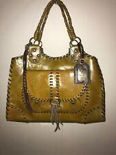 T BAGS Los Angeles Green Leather Statement Bag Buckle Shoulder Purse MSRP: $650