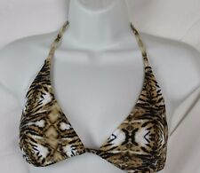 Popupshop designer for J.Crew Women's Tiger Print Bikini Top S Small