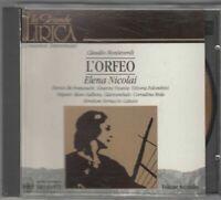 L'ORFEO. Claudio Monteverdi. Vol.2 Elena Nicolai. CD Audio Musicale