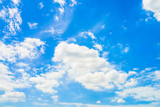 7X5FT Blue Sky White Clouds Landscape Photography Background Vinyl Backdrop Prop