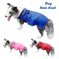 Waterproof Fleece Lined Rain Coat Dog Warm Coat Jacket Clothes Harness S M L XL