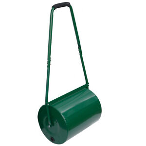 30L Lawn Roller | Manual Metal Grass Roller Aerator Water Sand Filled Gardening