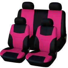 8Pcs/Set Universal Auto Full Set Car Seat Covers Polyester Front Rear 4 Heads