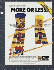 TYCO More or Less__Orig. 1989 Trade AD / toy promo__Building Blocks_Lego Duplo