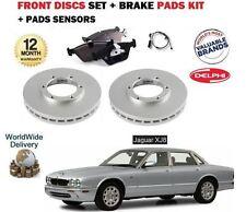 FOR JAGUAR XJ8 1997-2002 FRONT BRAKE DISCS SET + DISC PADS KIT + PAD SENSOR