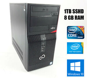 PC Fujitsu Esprimo P556 Intel Core i5 7400 3.00 GHz 8GB RAM SSHD 1TB + W10 Pro