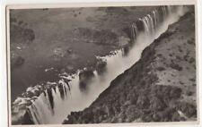 Rhodesia, Victoria Falls, from The Air, Rhodesian Railways RP Postcard, B138