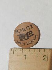 Vintage Schlitz Malt Liquor Wooden Nickel Advertising Token