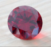 Pomegranate Red Sapphire 15mm 20.15Ct Round Cut Shape AAAAA VVS Loose Gemstone