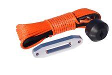 3/16*49ft Orange Synthetic Winch Rope&Hawse Fairlead&Winch Saver,ATV Winch Line