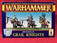 Games Workshop AOS Warhammer Fantasy Bretonnian Grail Knights Metal OOP Complete