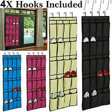 20 Pocket Hanging Over Door Shoe Storage Rack Organizer Tidy Space Saver 10 Pair