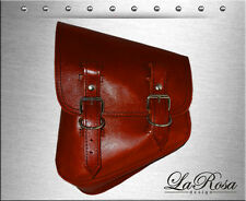 La Rosa Harley Softail Rigid Shedron Leather Left Mount Saddle Bag