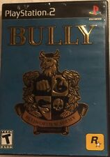 Bully (Sony PlayStation 2, 2006) Black Label Game Disk Jewel Case Booklet Map