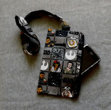 Star Wars Pouch with Lanyard Clutch Bag Phone case cotton handmade Gift